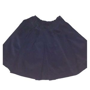 🎈Gap kids girls black corduroy pleated skirt sz 8